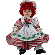 Porcelain Raggedy Ann Christmas Collection Doll