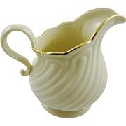 Large Lenox Creamware Cream Pitcher House Warming Pattern