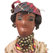 Antique Leather French Martinique 10.5 inch Doll