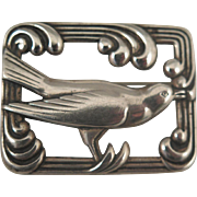 SALE 1940s Sterling Silver Norseland Bird Brooch