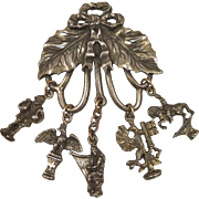 Early 1900s Chatelaine Charm Brooch