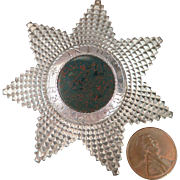 1873 George Kennig Masonic Sterling Silver Bloodstone Brooch