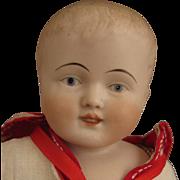 """SALE 14"""" Antique German Kestner Bisque Boy Doll in Sailor Suit"""