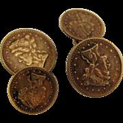 SALE Vintage Mens Coin Cufflinks