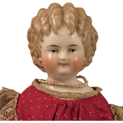 1870s Alt Beck Gottschalck Curly Top China Doll 17 inch