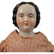 SALE PENDING 1860s High Brow China Doll 12.5 inch