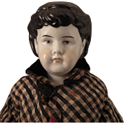 1880s Fat Cheeked China Doll Child 19 inch