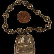 Antique Sterling Silver Baby Rattle Bracelet