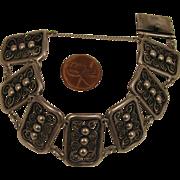 SALE Vintage 900 Silver 7 Panel Bracelet