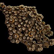 SALE Antique Gilded 800 Silver Paste Pendant Brooch