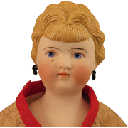 Antique German Blond Bisque Doll with Pierced Ears