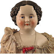25 inch German Flat Top China Doll with Original Body