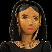 SALE 10 inch c.1950s Helen Bullard Wood Doll Holly Dolly Ozone, Tenn.