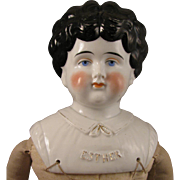 SALE 1899-1902 Pet Name China Head Doll Esther 21""