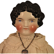 1870s Kling Dolley Madison China Head Doll 28 inch