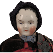 Antique China Head Boy in Original Scottish Costume 12 inch
