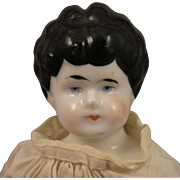 "SALE Hertwig Whistle Head 12"" China Doll Early 1900s"