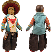 SALE Early 1900 Ethnic 15 inch Doll with Compo Head and Ball Jointed Body