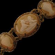 SALE PENDING Antique Cameo Bracelet Cupids, Harps & Urns