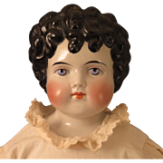 1880s German ABG China Doll with Curly Hair 23 inches