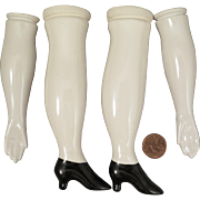 Vintage China Replacement Arms and Legs for Antique China Doll
