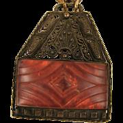 SALE Vintage Czech Glass Pendant Necklace