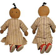 "21"" Early 1900s Chinese Mission Cloth Doll"