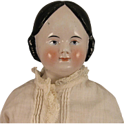 "21"" Antique German Covered Wagon China Head Doll"