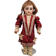 SALE 15 inch Jumeau no.5 French Bisque Bebe Doll w/ Open Cut Mouth