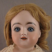 SALE 18 inch German Kestner Sleep Eye Bisque Doll on Kid Body