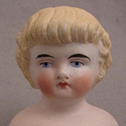 SALE Small Model 137 Blond Bisque Doll Shoulder Head w/Bangs