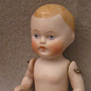 "SALE 4"" German All Bisque Blond Naked Baby Boy"