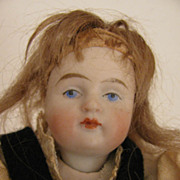 "SALE 5"" All Original Swivel Neck All Bisque Doll w/ Grapes"