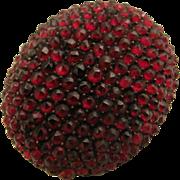 SALE Antique Victorian Rose Cut Garnet Cluster Brooch