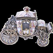 SOLD Rare Antique Viennese Enamel  BRONZE CARRIAGE Box