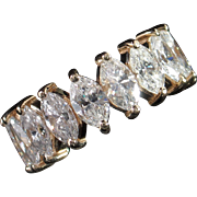 REDUCED MUAO: Spectacular 5.20ct Hi-End Marquise Diamond Eternity Band