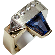 SALE MOTHER'S DAY SALE! One-of-a-Kind Designer 14kt Tanzanite & Diamond Ring