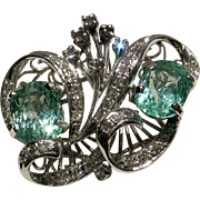 SALE MOTHER'S DAY SALE! Certified Vintage Double Emerald & Diamond Cocktail Ring