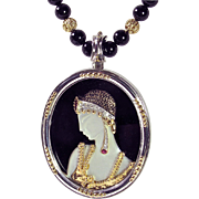 "SALE MOTHER'S DAY SALE! ""Salome"" Pendant/Necklace/Pin - CFA, 14k, SS, Designer Signe"