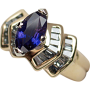 SALE Captivating Unheated Color-Change Sapphire & Diamond Ring