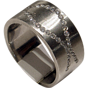 REDUCED MUAO: Fantastic Unisex HEAVY Solid Platinum & Diamond Band