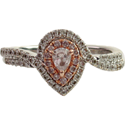 SOLD Darling 18kt Pear-Cut Natural Pink Diamond Ring