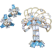 SALE On Sale Vintage Phyllis set articulated pin pendant combo and earrings 1/20 12K G.F.