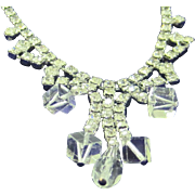 SALE SALE 50% Vintage crystal and ice rhinestone necklace