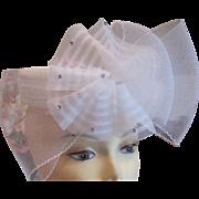 SALE SALE Vintage white bridal hat headband