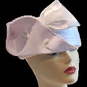 SALE SALE Vintage Lurel  white satin bridal or cocktail hat