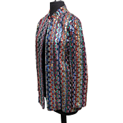 SALE SALE Vintage Saks Fifth Ave. colorful sequined jacket