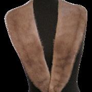 Vintage long mink fur collar