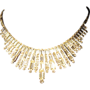 Vintage Kramer clear rhinestone necklace