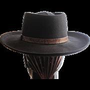 Vintage Betmar black wool felt western style hat